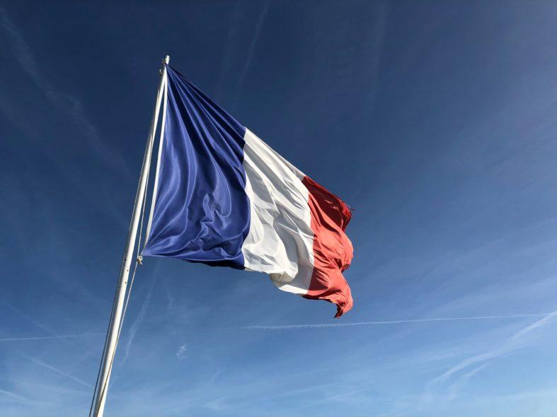 Yugoslavia flag under blue sky